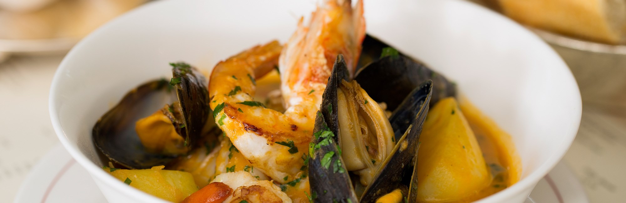 Fish Stew available at Seafood and Fish Restaurant J Sheekey Atlantic Bar located near Covent Garden