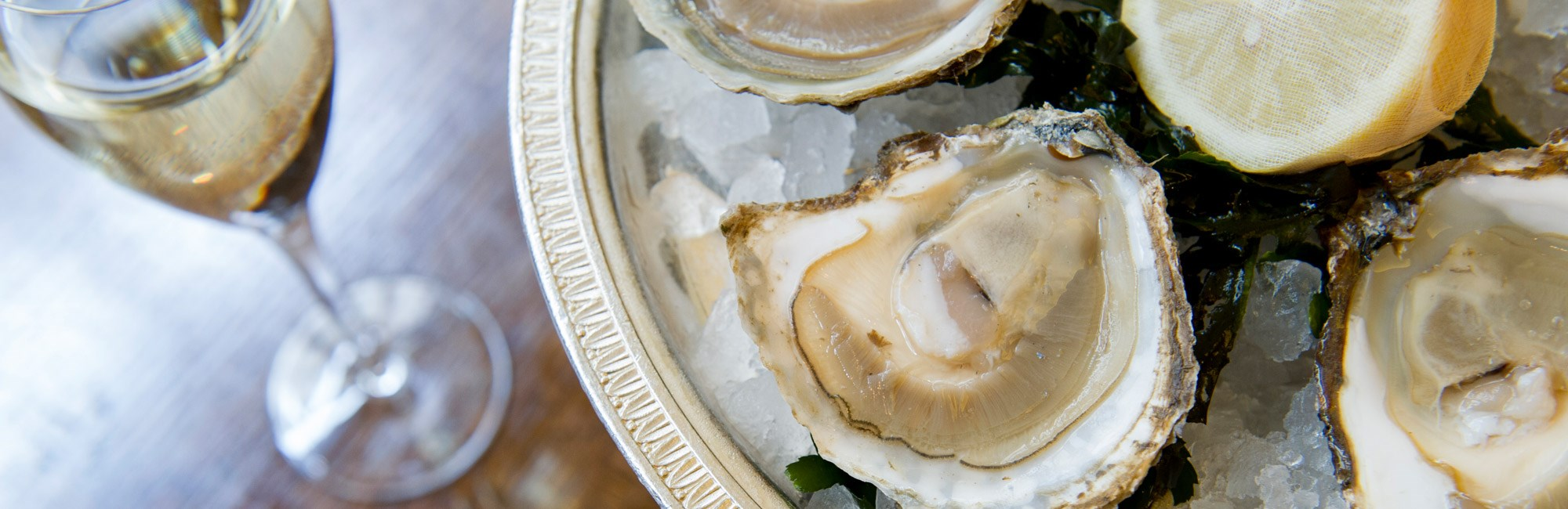 Enjoy Oyster and Champagne on the terrace at J Sheekey Atlantic Bar, Covent Garden