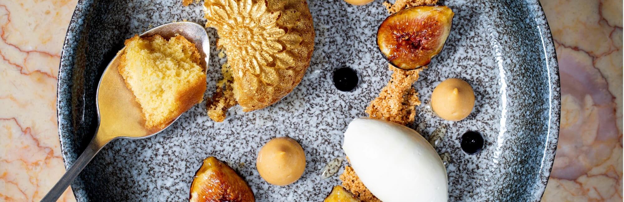 J Sheekey Atlantic Bar | Honey Cake with Black Figs
