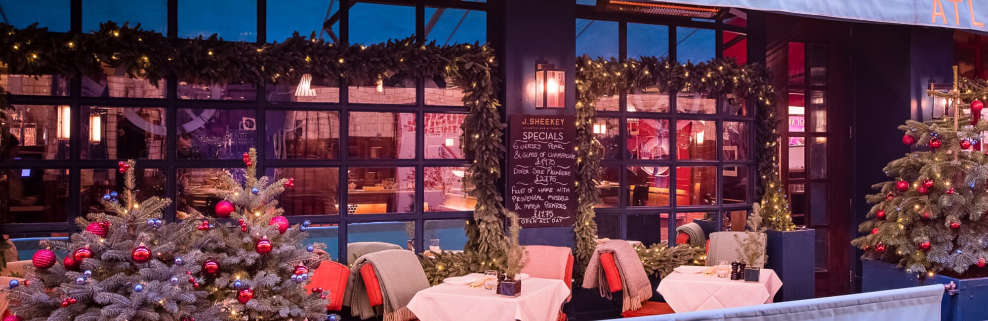 Fish and Seafood Restaurant | J Sheekey Atlantic Bar, London | Christmas