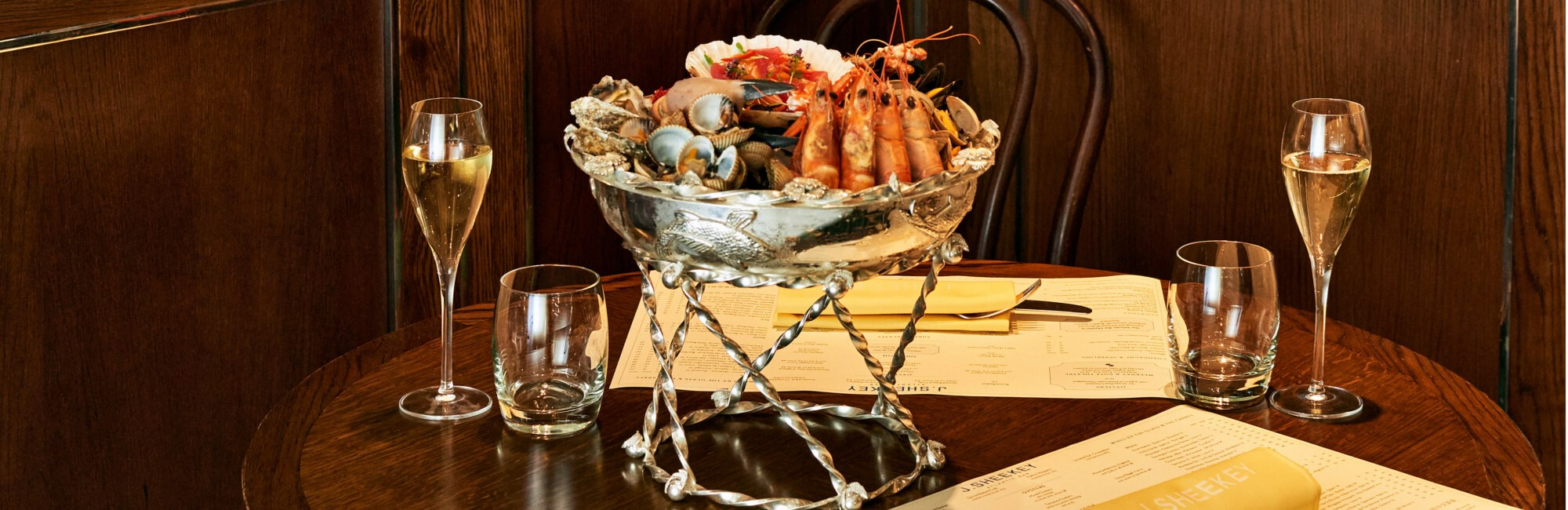 Seafood and Champagne at J Sheekey Atlantic Bar in London's West End