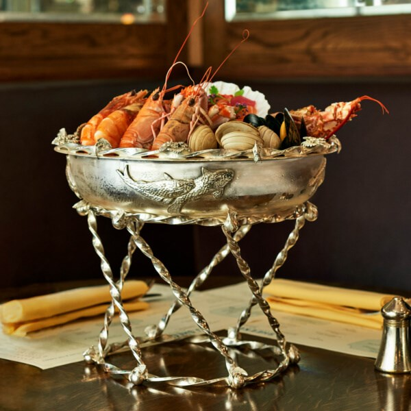 Seafood platter at J Sheekey Atlantic Bar restaurant in Covent Garden